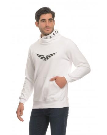 Λευκό Φούτερ Γιακά - Φτερά