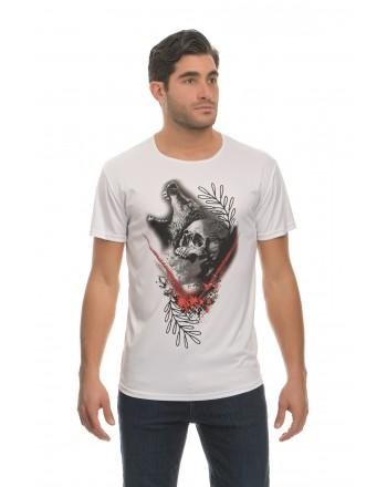 Λευκό Κοντομάνικο μπλουζάκι...