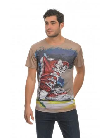 Μπεζ Κοντομάνικο μπλουζάκι...